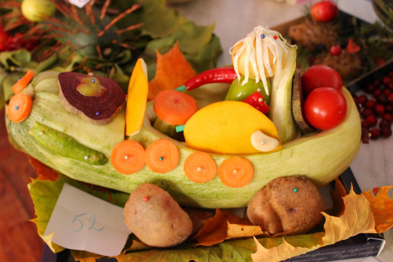 Поделки осенние фантазии овощи фото